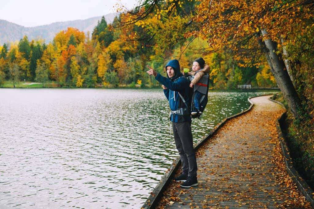 Slovenia - Lake Bled - Father and Baby