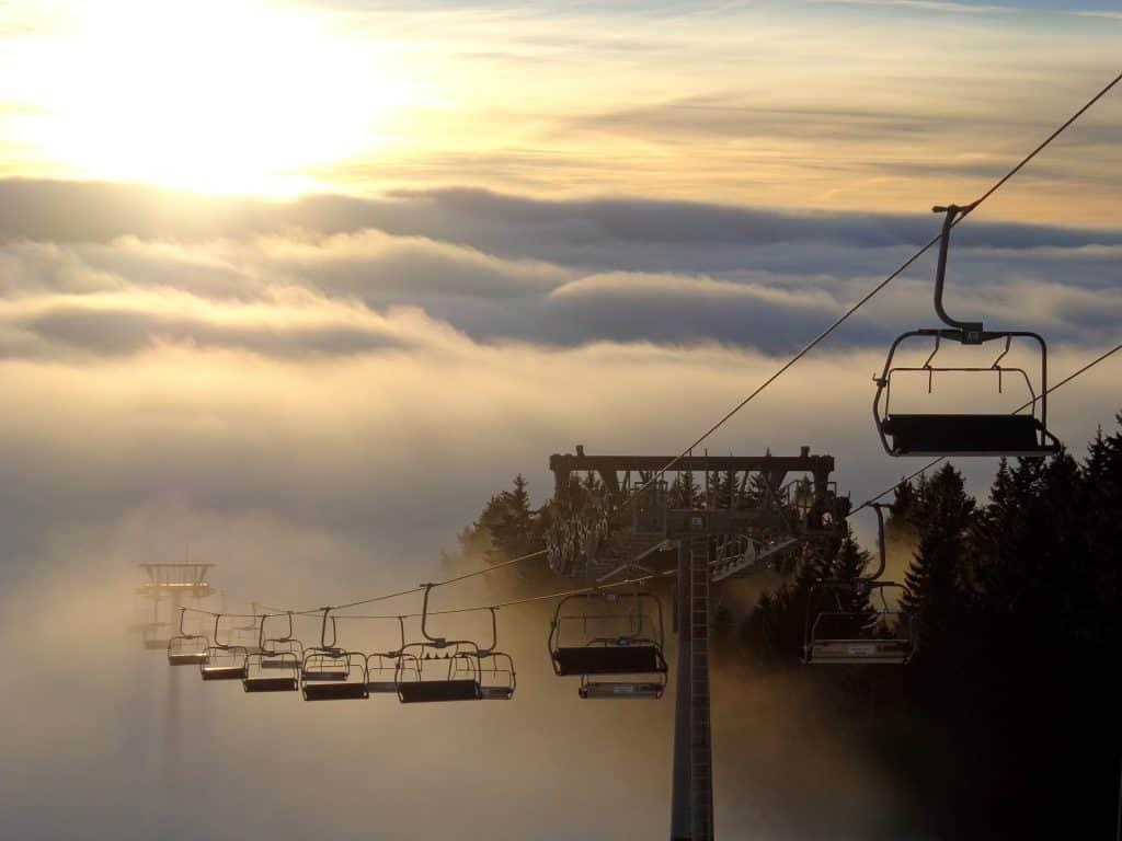 Slovenia - Lake Bled - Ski Lift Winter