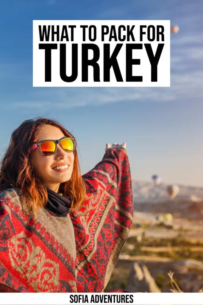 Wondering what to pack for Turkey? This guide to what to wear in Turkey for women & men will be your ultimate Turkey packing list! Tips on what to wear on Turkish beaches and in Turkish cities like Istanbul, cute Turkey outfits, what not to forget to bring to to travel Turkey, and other Turkey packing tips for summer, spring, winter, and fall.