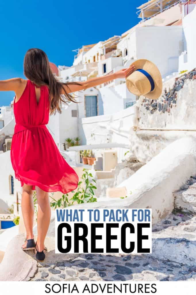 No clue what to pack for Greece? We've been countless times - summer, winter, spring, and fall - and can report back on what to wear in Greece in all seasons. This Greece packing list for women and men will be your ultimate guide to picking the ideal Greek outfits to get the perfect Greece Instagram photos as well as how to dress for Greece in winter, summer, spring, and fall.