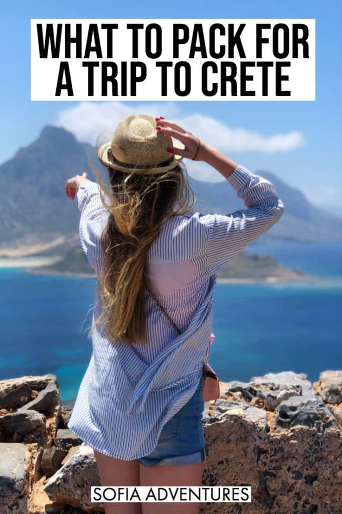 Planning a Crete vacation? You need this Crete packing list! Tips for what to wear in Crete and cute outfits for Greece plus what to pack for Crete that you might not have thought of. Whether you're visiting Crete's beaches or cities like Chania, Heraklion, and Rethymnon, this guide to what to bring to Crete will be your best friend!