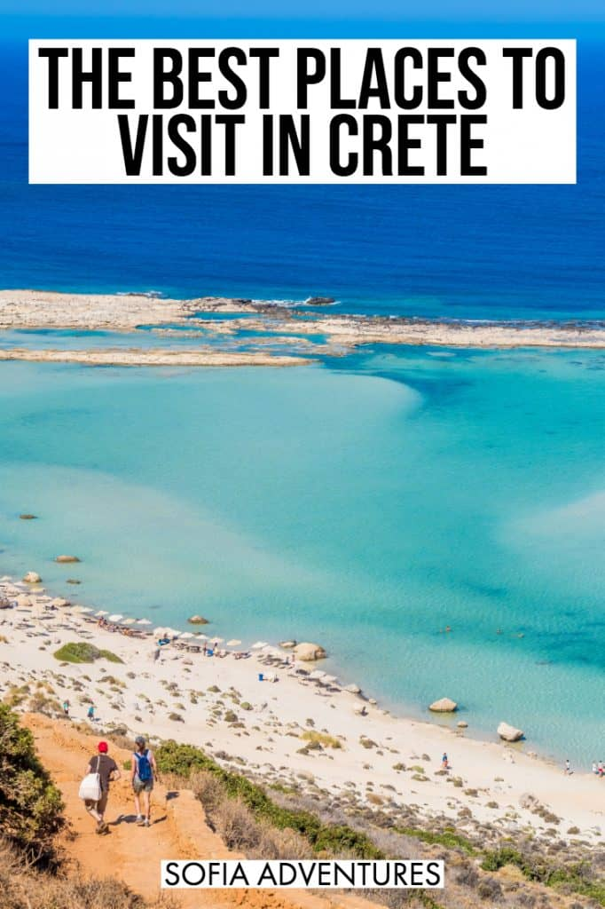 Going to travel Crete, Greece? Here are the best places to visit in Crete and the best things to do in Crete! Whether you visit the popular spots of Chania, Rethymnon, or Heraklion, beautiful beaches like Balos, the pink sand beach of Elafonissi, or Seitan Limania, the island of Crete never stops impressing! Full of history, culture, delicious food, Crete is amazing for couples, honeymoons, family trips, and beyond: here is where to go in Crete on vacation!