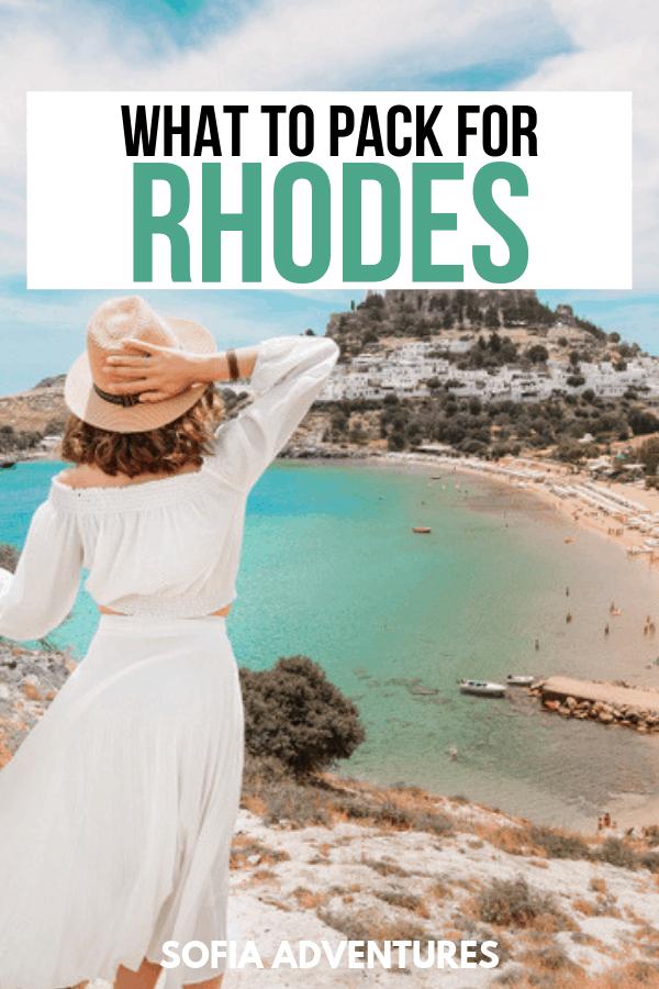 Rhodes Packing List
