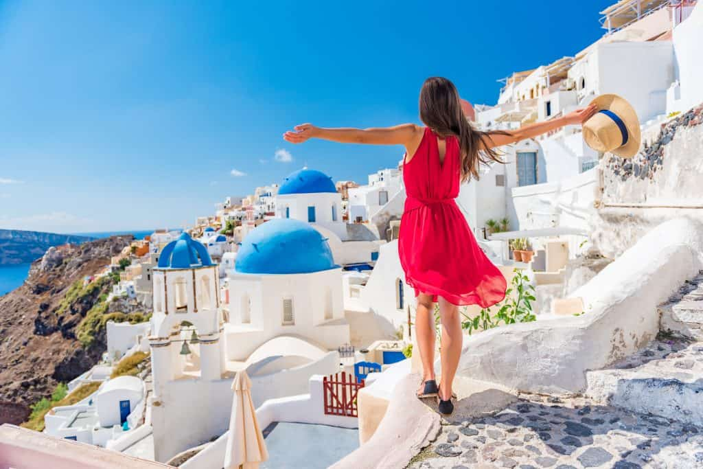 Greece - Santorini - Woman