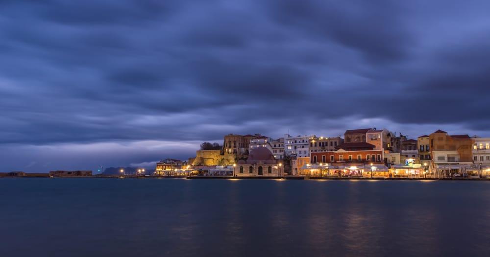 Greece - Crete - Chania - Harbor in Winter