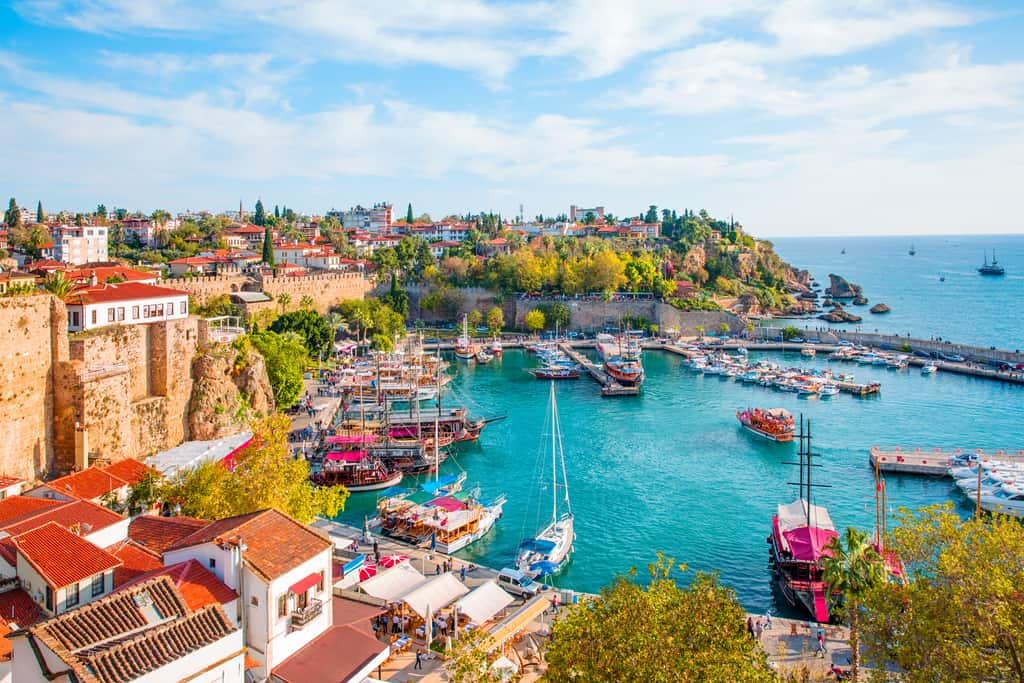 Turkey - Antalya- Old town (Kaleici) in Antalya, Turkey