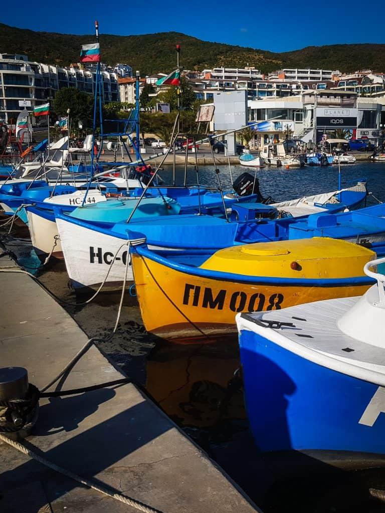 Bulgaria - Sveti Vlas - Boats in Harbor