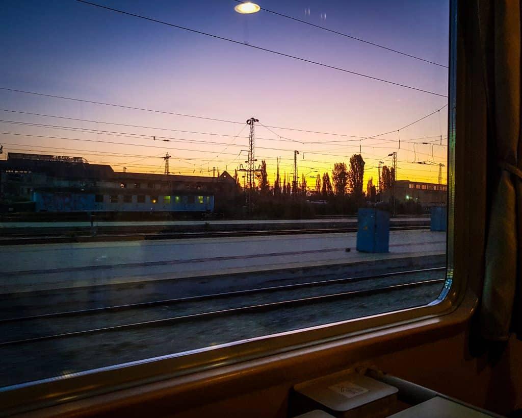 Bulgaria - Sofia to Burgas - Sunrise on Train