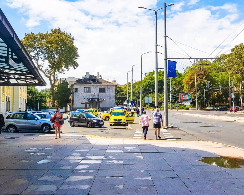 Bulgaria - Burgas - Train Station Taxi Line