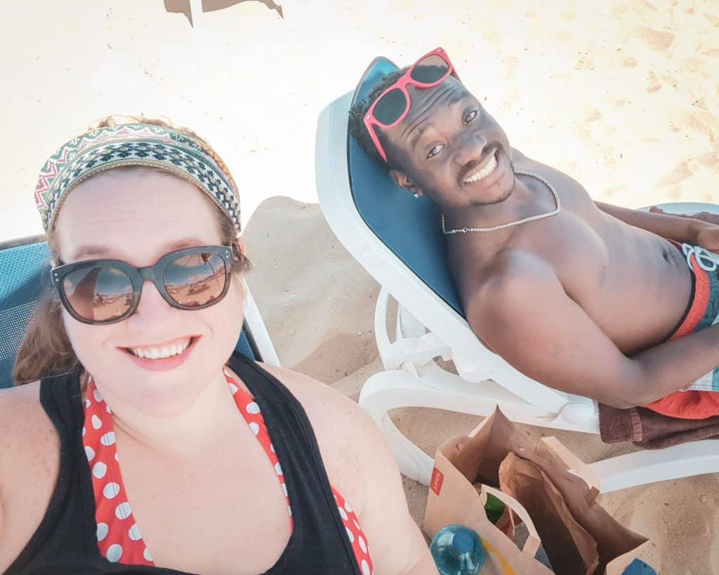 Bulgaria - Sunny Beach - Stephanie and Valentine Beach Selfie
