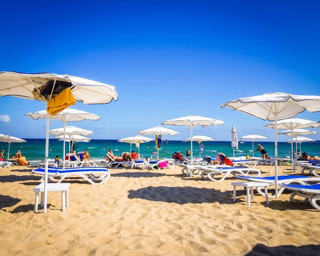 Bulgaria - Sunny Beach - Beach Umbrellas