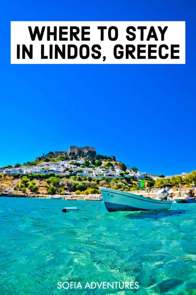 Planning to travel Rhodes, Greece and have your eye on Lindos, Rhodes' most beautiful beach town? Here are the best places to stay in Lindos, Rhodes (villas, hotels, resorts, etc.) near the beach, acropolis, Greek restaurants, and of course, St Pauls Bay! Whether you want a quiet place at night, a happening vibe in the heart of Lindos town with lots of things to do, or a lovely place to celebrate a wedding or honeymoon, here are our favorite Lindos hotels and accommodations.