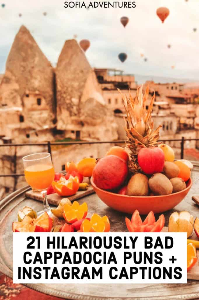 Are you planning to visit Cappadocia, Turkey? We've gathered the best Cappadocia puns that are the perfect companion for your Cappadocia Instagram photos! Use these with your Cappadocia photos to make your followers snort-laugh with these silly but delightful Turkey puns and jokes.