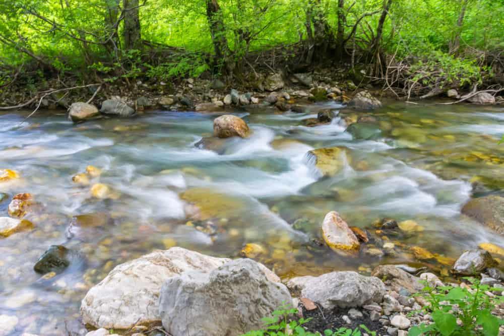 Kolasin - Montenegro - Flowing river in spring