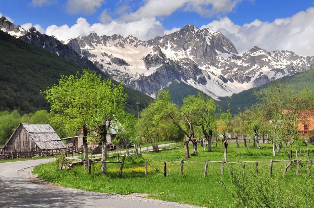 Kolasin - Montenegro - Snow in spring with mountains