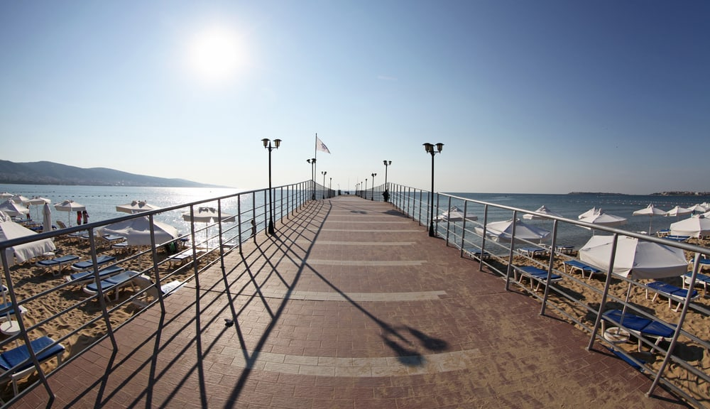Bulgaria - Sunny Beach - Pier at Sunny beach, Bulgaria