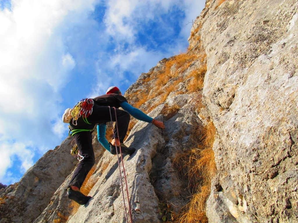 Bulgaria - Rock climber in autumn, Bulgaria