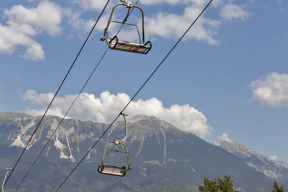 Bled - Slovenia - Ski chair lift in Julian Alps