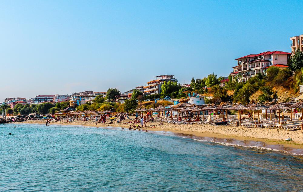 Bulgaria - Sveti Vlas - Seashore of resort city Saint Vlas (Sveti Vlas), Bulgaria