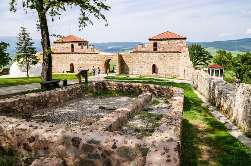 Bulgaria - Partly reconstructed roman fortress Tsari Mali Grad, Bulgaria