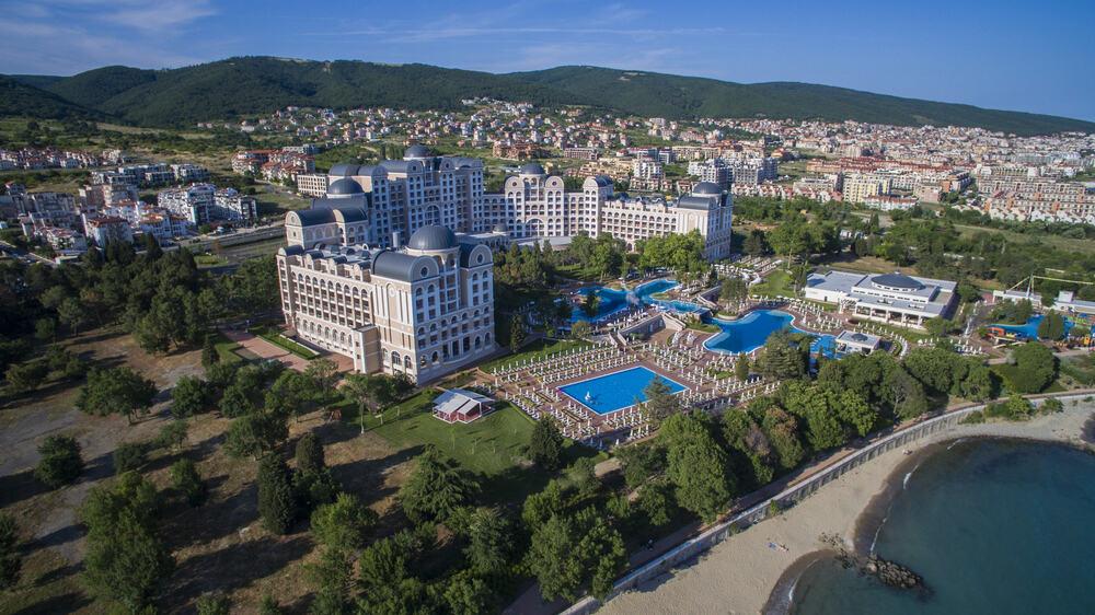 Bulgaria - Sunny Beach - Aerial view of Sunny Beach, Bulgaria