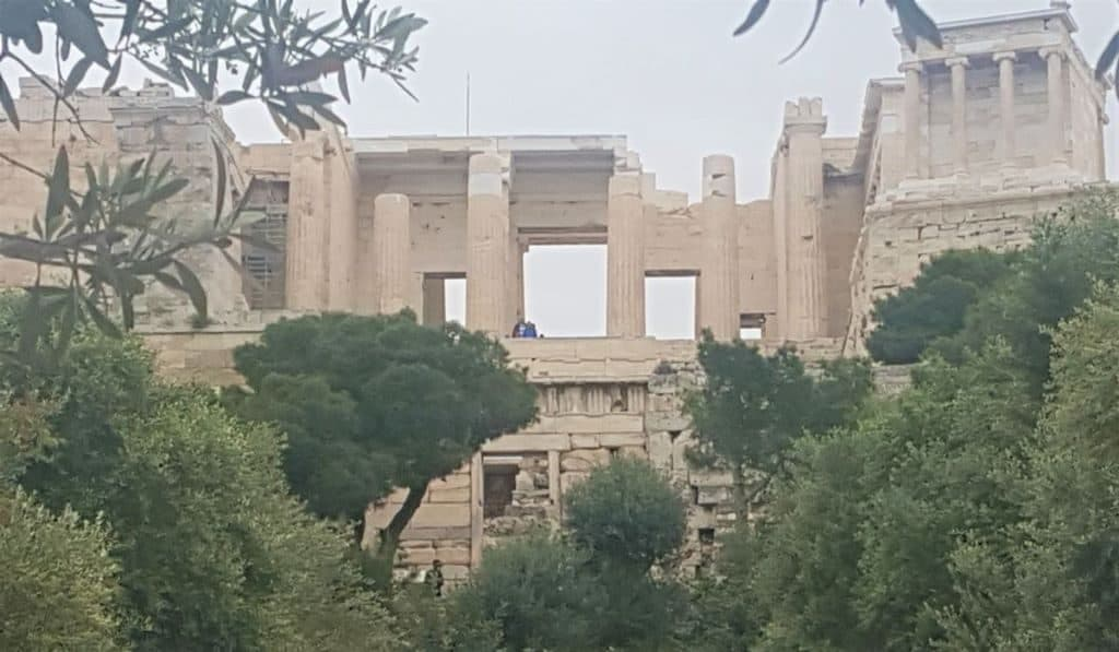 arriving at the acropolis