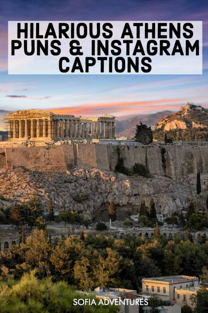 Want some hilarious Athens puns and puns about Greece? From ruins to Acropolis jokes to puns about neighborhoods in Athens, we've got some hilarious Athens jokes that you can quote on your Athens Instagram captions, on all the great photos of Athens you take at the city's most Instagrammable places!