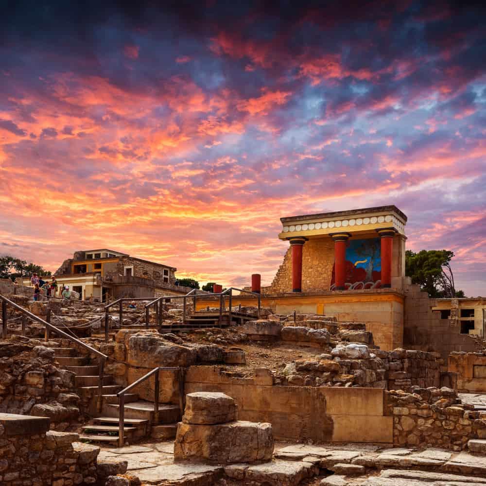 Greece - Crete - Heraklion - Knoss palase on the Crete,Greece