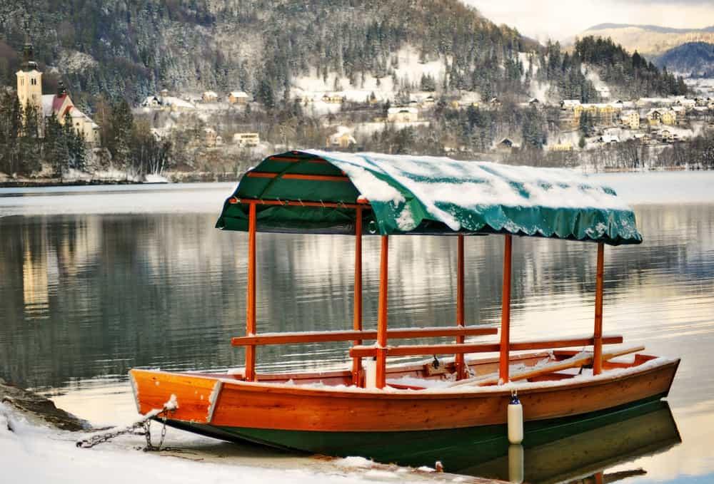 Slovenia - Lake Bled - Slovenia, lake Bled in winter