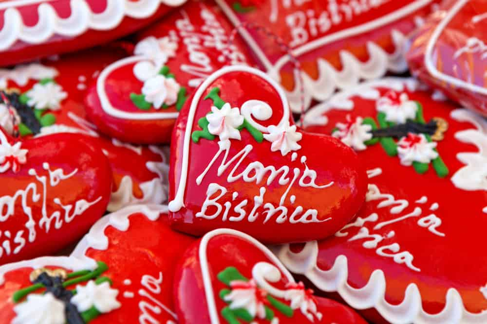 Licitars of Marij Croatia - Licitar - a Bistrica, colorfully decorated biscuits made of sweet honey dough that are part of Croatian cultural heritage, a traditional souvenir in Croatia - Image