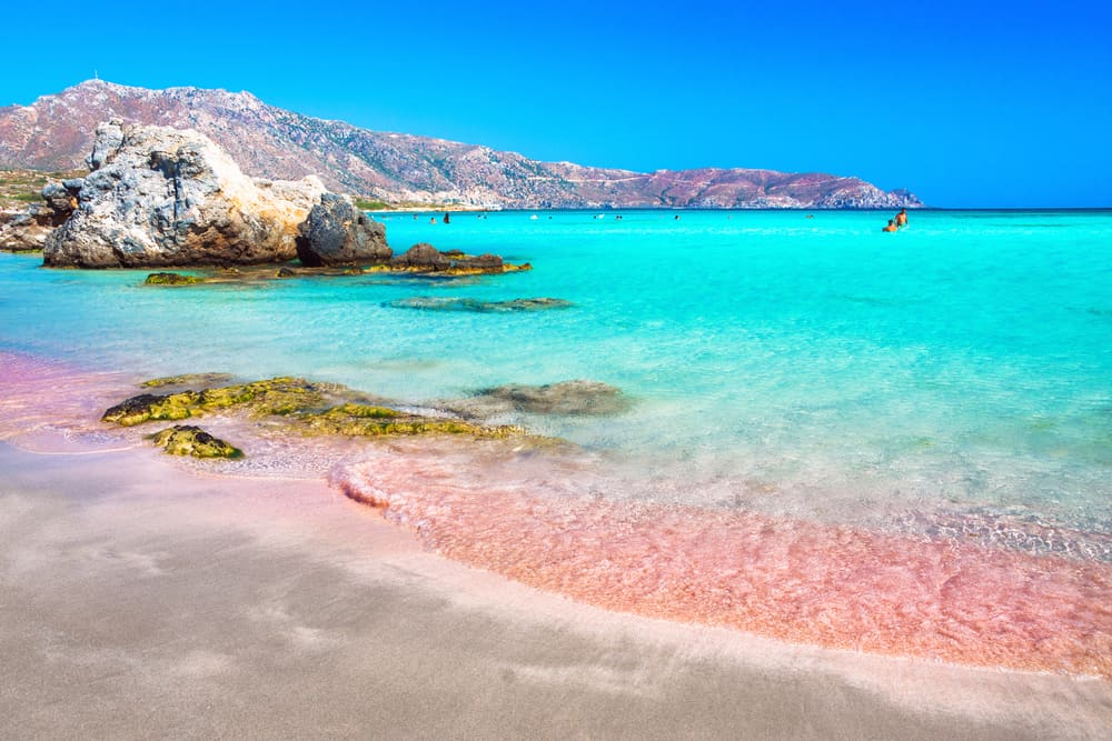 Greece - Crete - Tropical beach with turquoise water and red sand, in Elafonisi, Crete, Greece