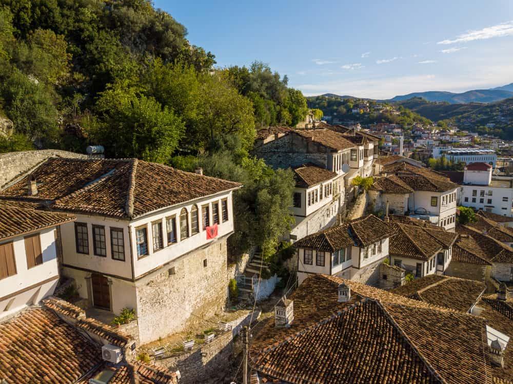 Albania - Berat - City of Berat in Albania