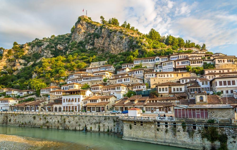 Albania - Berat - View at old city of Berat - Albania