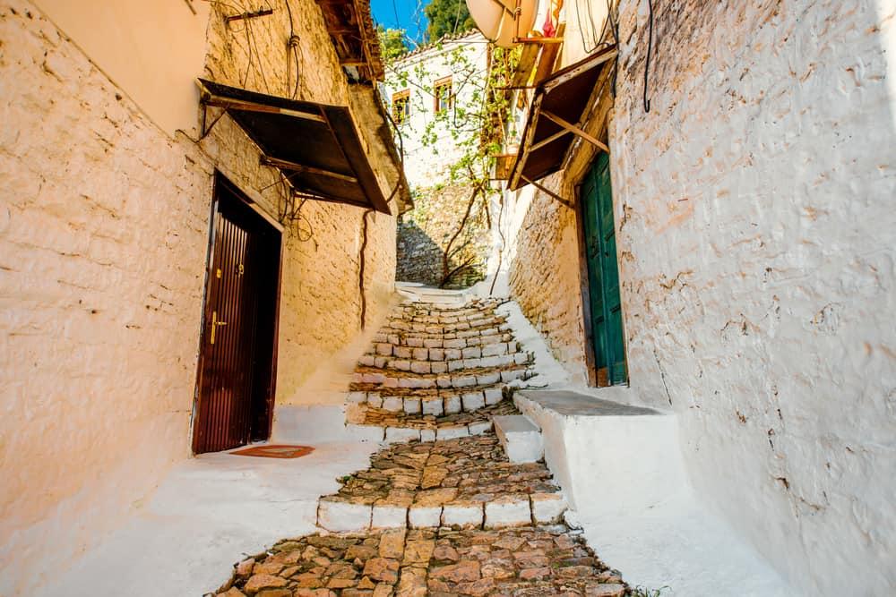 Albania - Berat - Street view in Berat city, Albania. World Heritage Site by UNESCO