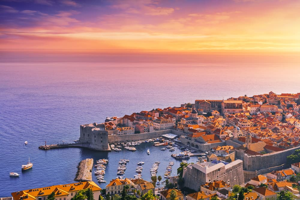Croatia - Dubrovnik - Sunset in Dubrovnik