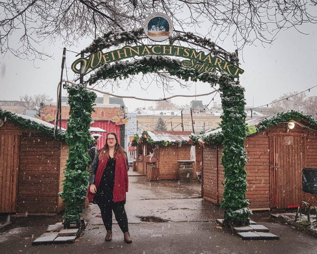 Bulgaria - Sofia - Sofia in Winter Snow Sofia Christmas Market Stephanie
