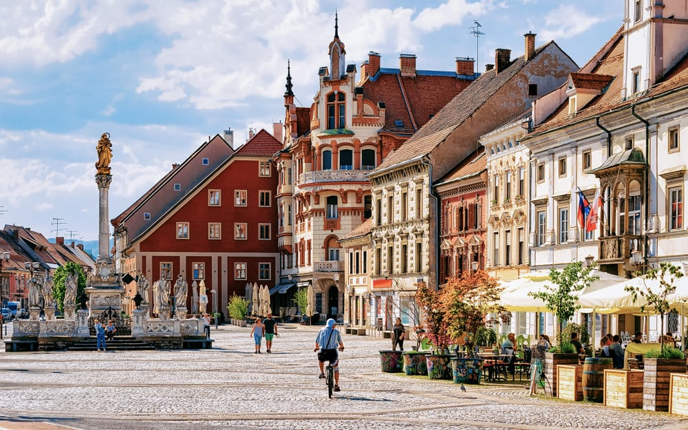 Old Town center of Maribor historic town