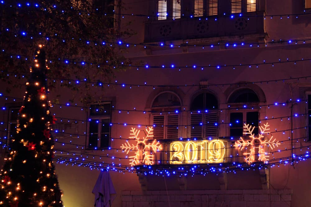 Croatia - Zadar - Christmas decoration in Zadar Croatia 2019