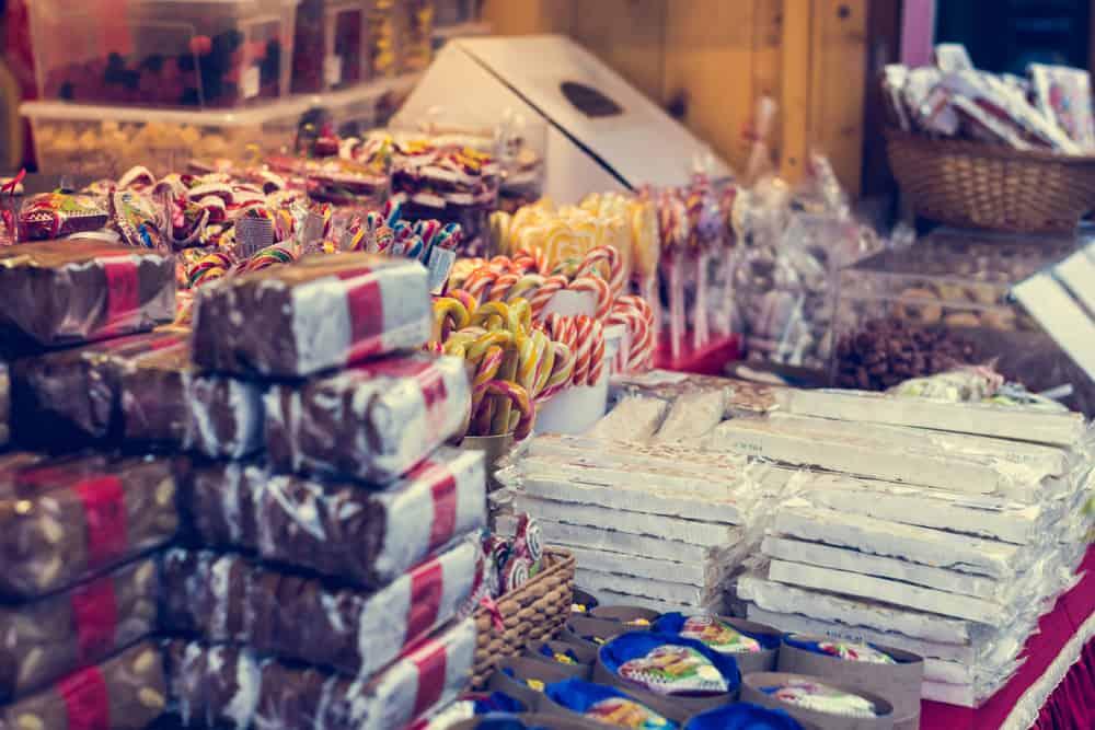 Slovenia - Ljubljana - Christmas market with delicious sweets.