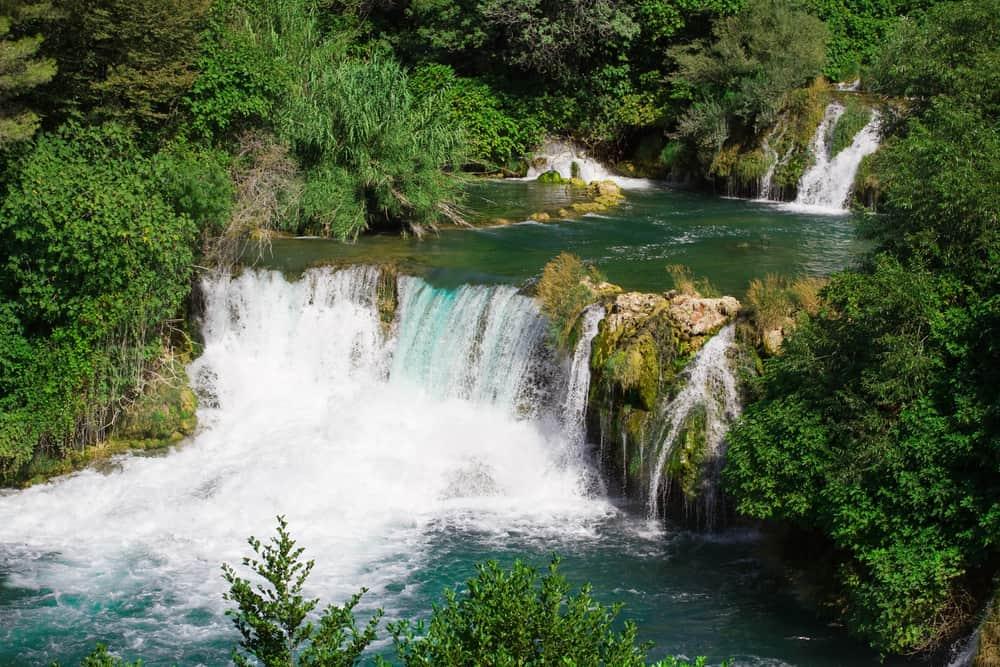 One big waterfall cascade in Krka National Park