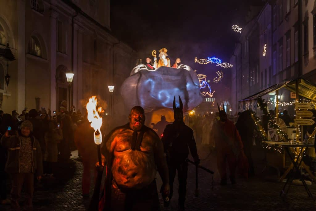 Slovenia - Ljubljana - St. Nicholas Procession - Ljubljana Christmas Market
