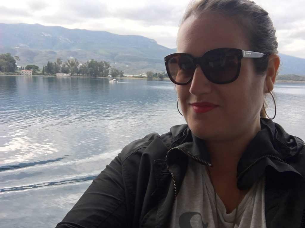 Greece - Hydra - Stephanie leaving Hydra on an Island Cruise