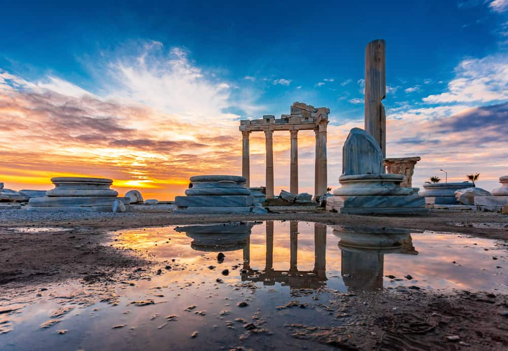 Turkey - Antalya - The Temple of Apollo in Side Town of Antalya Province