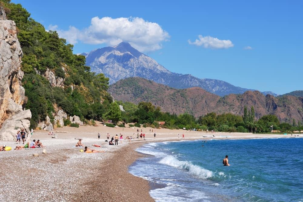 Turkey - Antalya - Olympos beach at Lycean Coast, Turkey