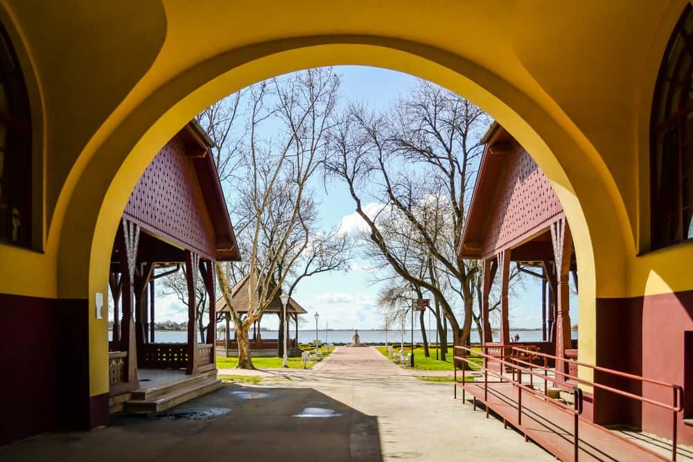 Serbia - Subotica - Entering the Palic lake near the town of Subotica
