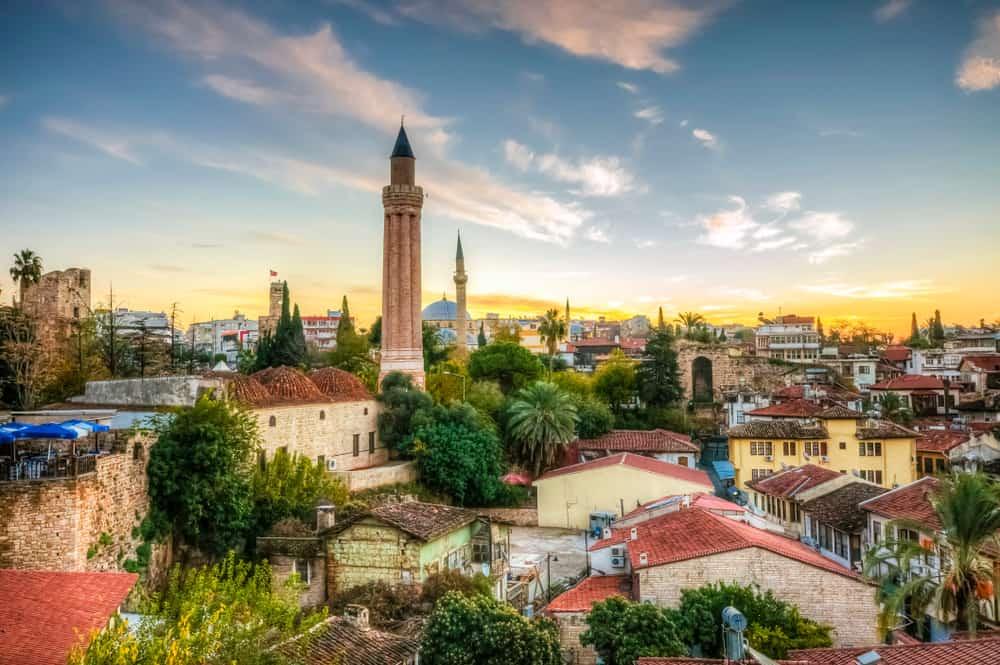 Turkey - Antalya - Old Harbour view in Antalya City. Antalya is populer tourist destination in Turkey.