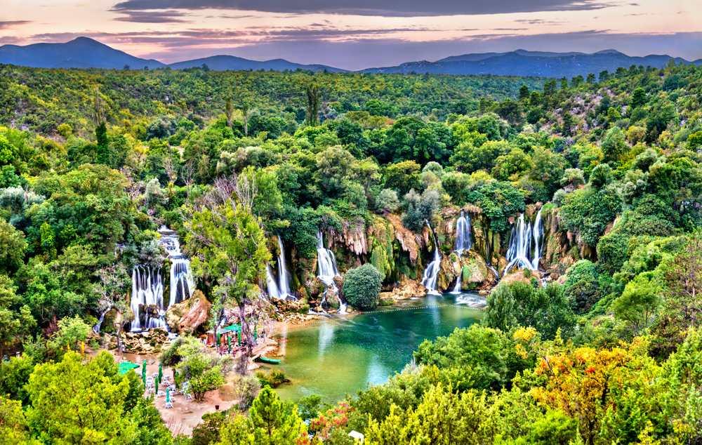 Bosnia and Herzegovina - Kravica waterfalls on the Trebizat River in Bosnia and Herzegovina - the Balkans, Europe