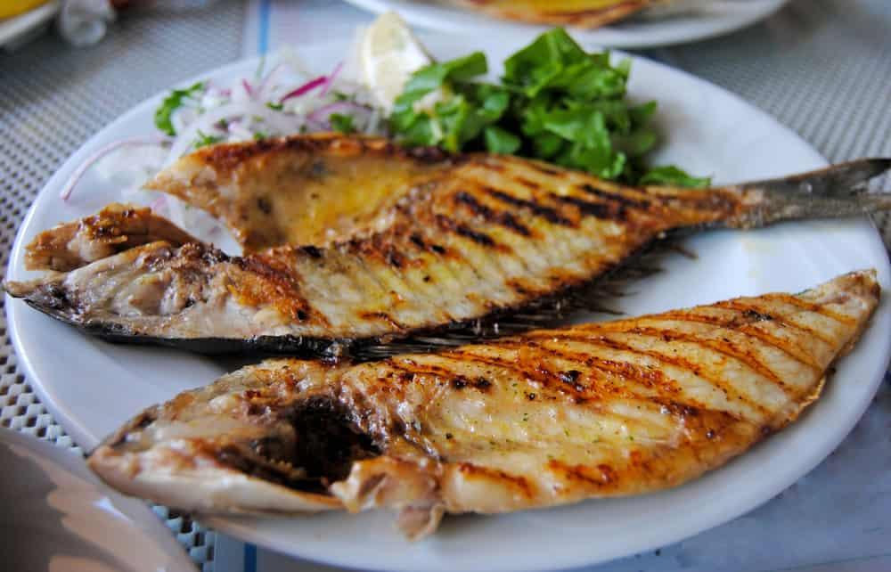 Turkey - Antalya - Plate of sea bream fish in Turkey.