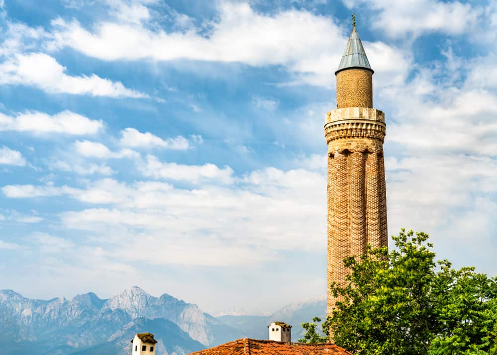 Turkey - Antalya - Minaret of Alaaddin Mosque in Antalya, Turkey