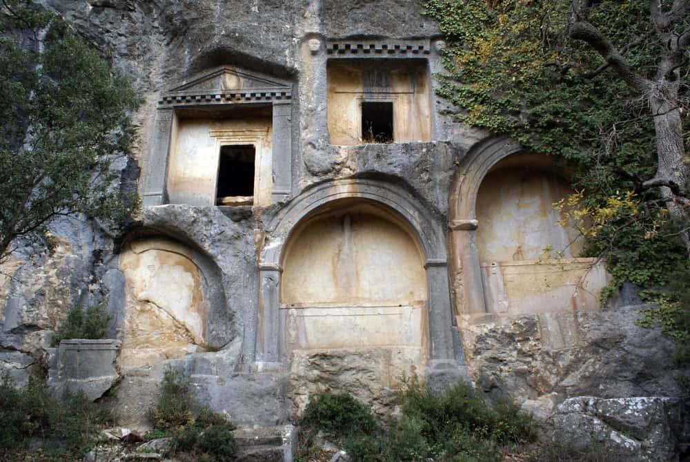 Turkey - Antalya - Rock tombs in Termessos near Antalya, Turkey